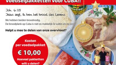 Voedselpakketten voor Cuba